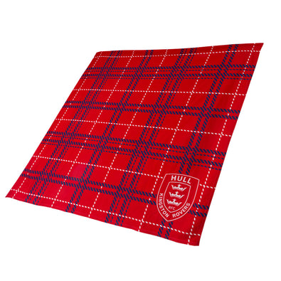 LARGE RED TARTAN FLEECE BLANKET