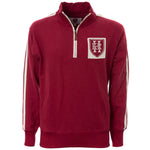 RED 1/4 ZIP RETRO JACKET