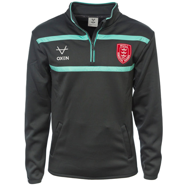 2021 JUNIOR CHARCOAL 1/4 ZIP JACKET
