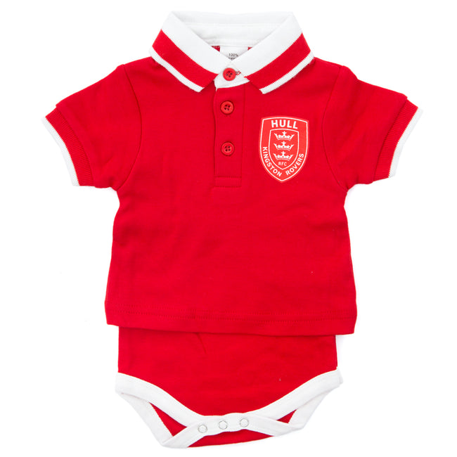 BABY RED POLO BODYSUIT