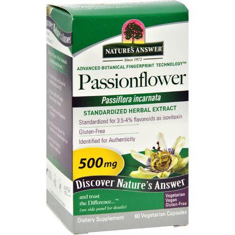 Nature's Answer Passionflower Extract - 60 Vegetarian Capsules