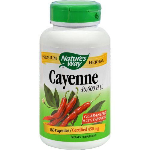 Nature's Way Cayenne 40000 HU - 450 mg - 180 Capsules