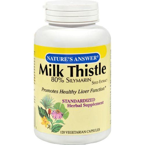 Nature's Answer Milk Thistle Seed Extract - 120 Vegetarian Capsules