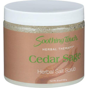 Soothing Touch Herbal Salt Scrub - Cedar Sage - 20 oz