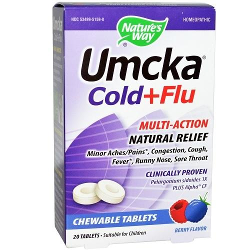 Nature's Way Umcka Cold & Flu Berry (1x20 TAB )