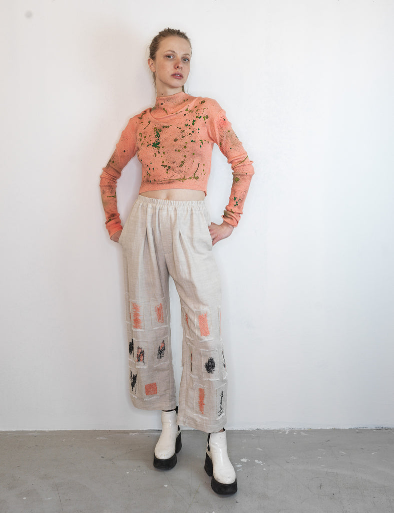 HAND STITCHED LINEN TROUSERS - Studio183