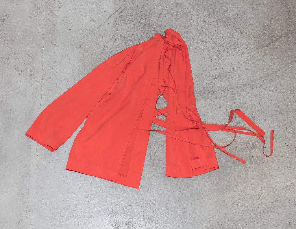 AH STRAP BAND GOWN (ORANGE RED)