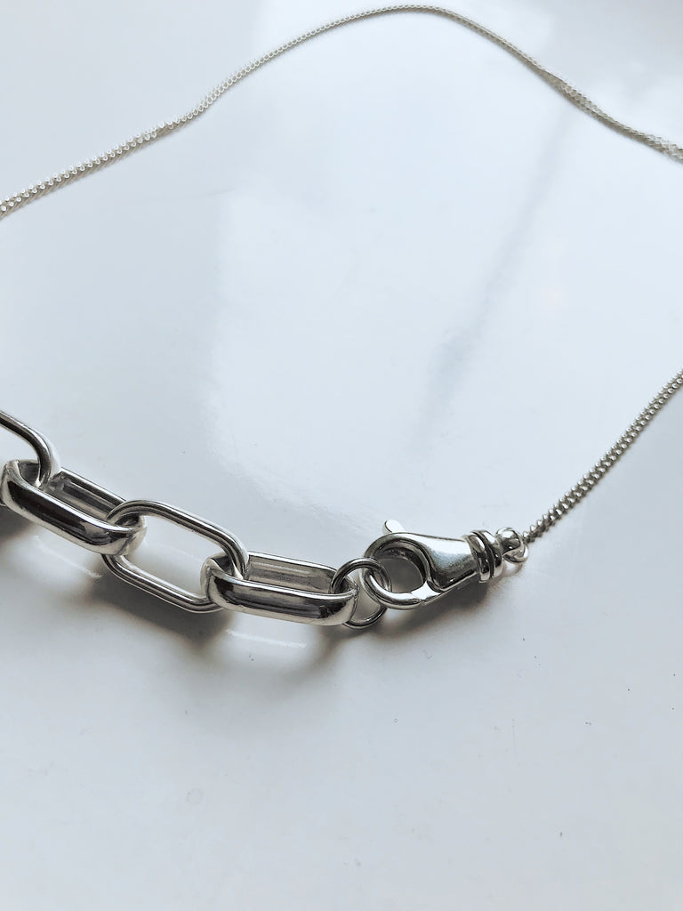 BOLD CHAIN NECKLACE ECO SILVER / PN21 - Studio183