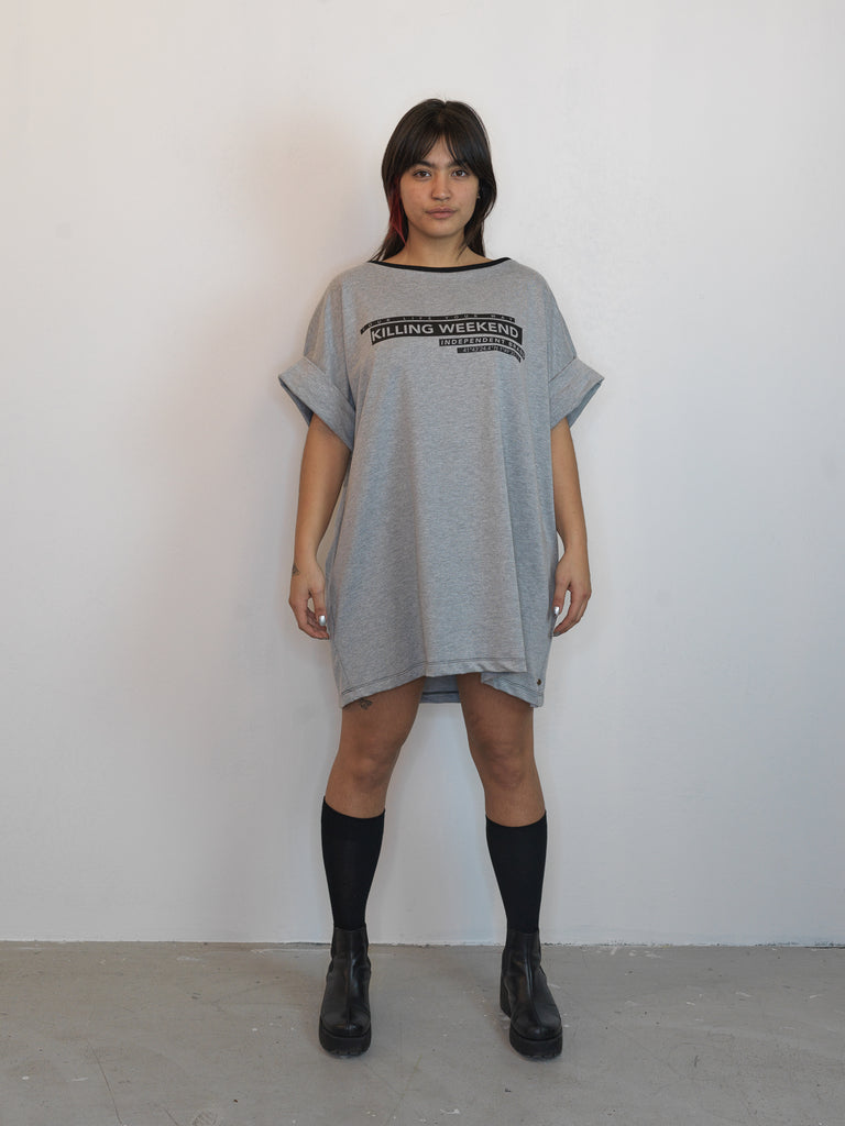 WINDBREAKER DRESS GREY - Studio183