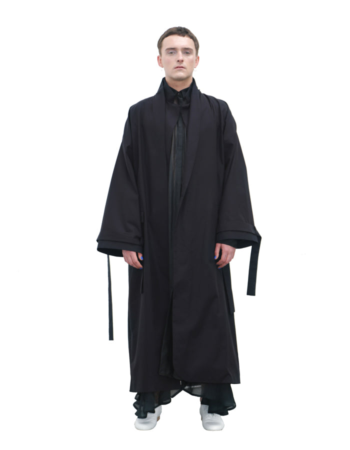 BLACK OVERSIZED COAT - Studio183