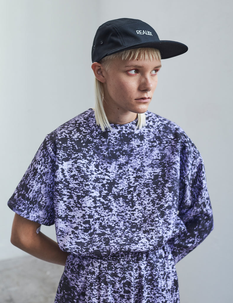 Postmodern camouflage cropped sweater No2 - Studio183 - tops