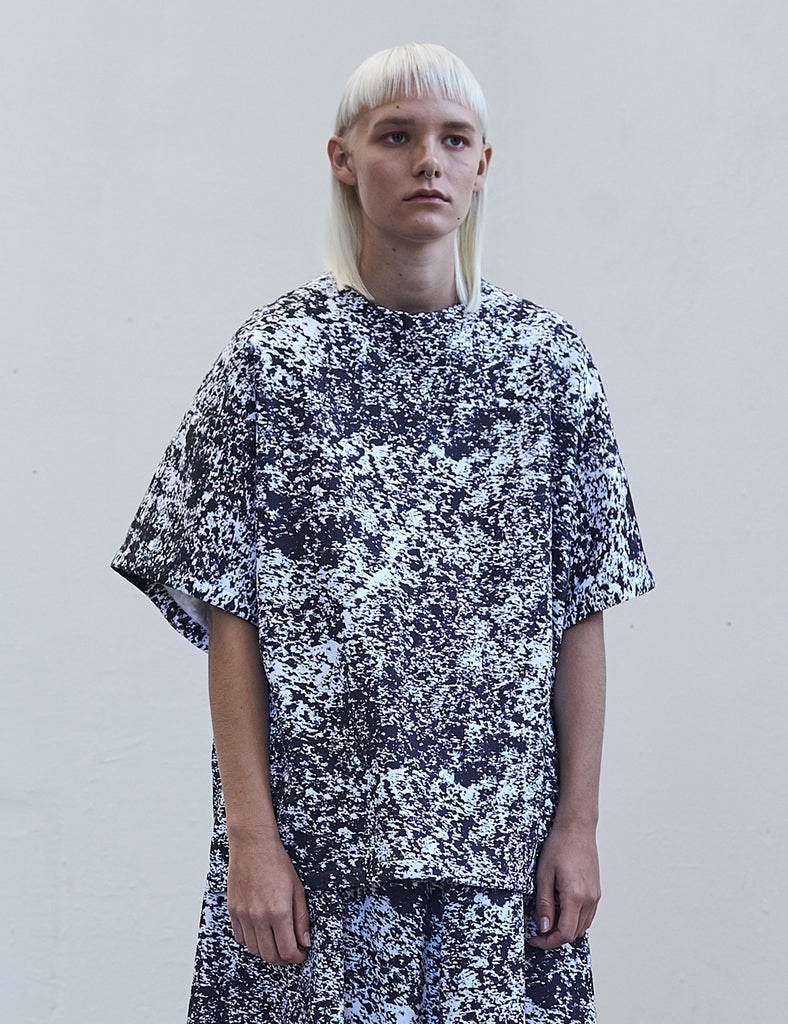 Postmodern camouflage oversized T-shirt