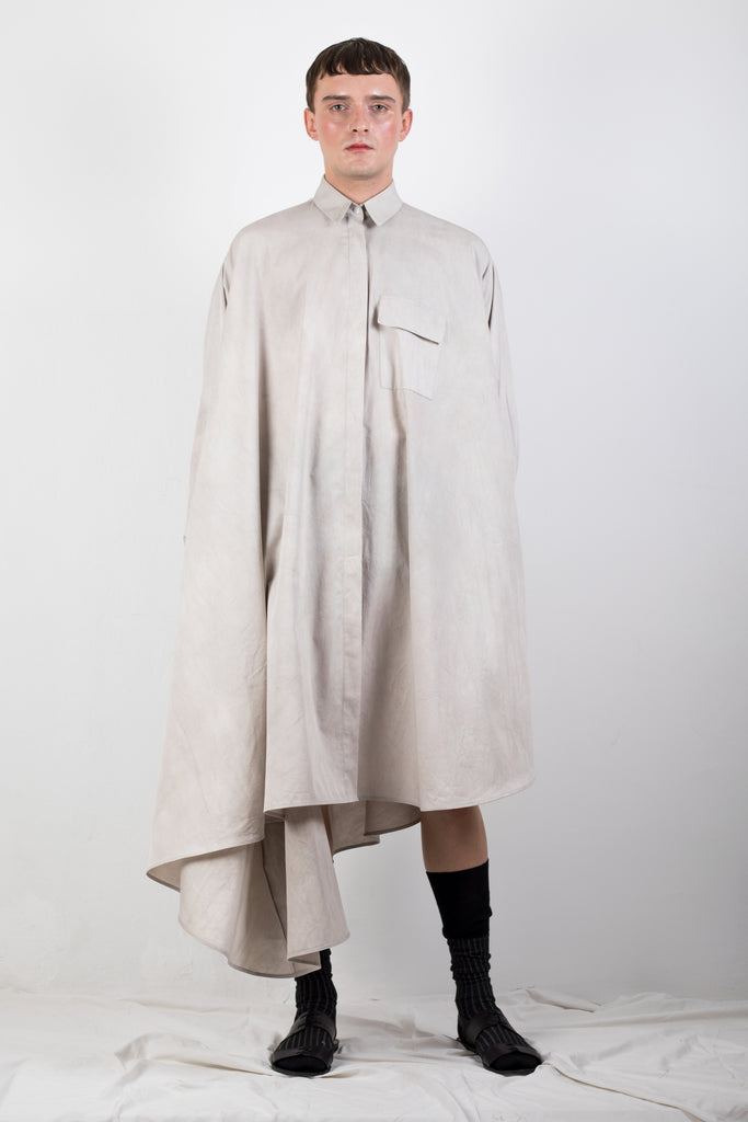ZERO WASTE NATURALLY DYED ELONGATED SHIRT - Studio183
