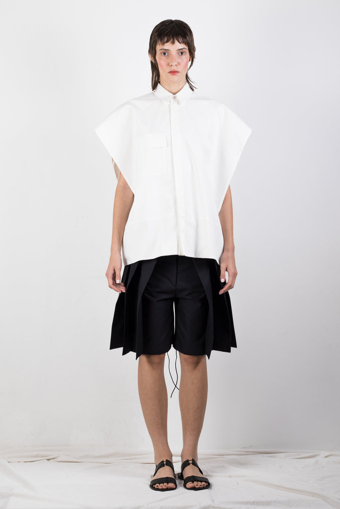 WHITE SLEEVELESS SHIRT - Studio183
