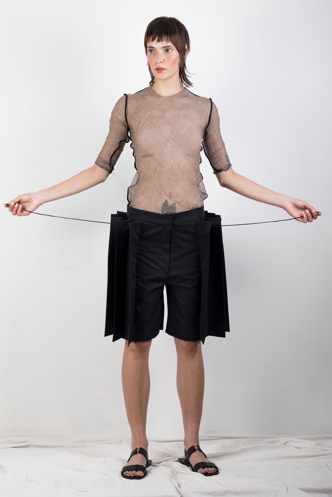 ZERO WASTE PLEATED TWILL SHORTS - Studio183