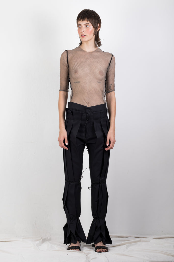 ZERO WASTE PLEATED TWILL TROUSERS - Studio183