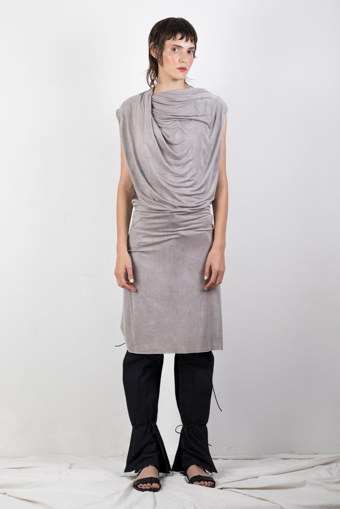 NATURALLY DYED DRAPED JERSEY TOP - Studio183