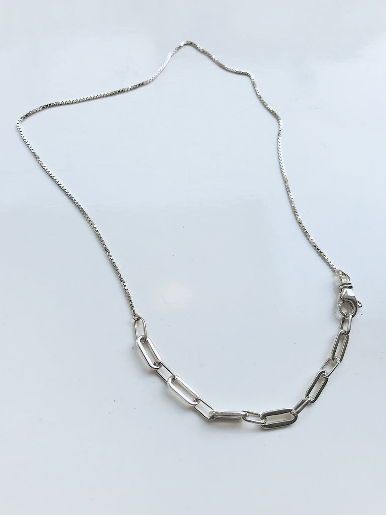 SQUARE CHAIN NECKLACE ECO SILVER / PN27 - Studio183