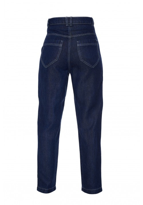 THE FITTED DENIM PANT IN NAVY - Studio183