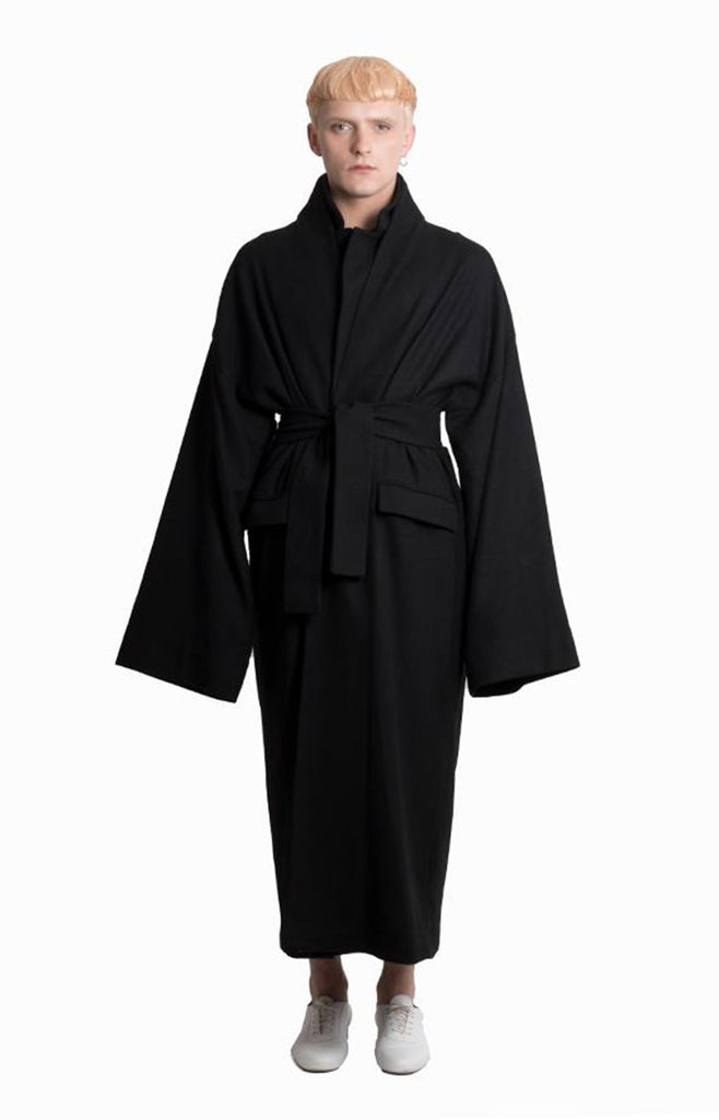 BLACK WOOL COAT - Studio183