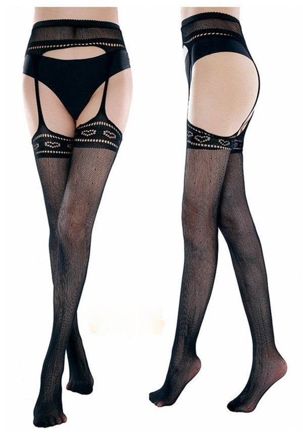 Merle Sexy Underwear Open Crotch Stockings - BLACK RABBIT STORE