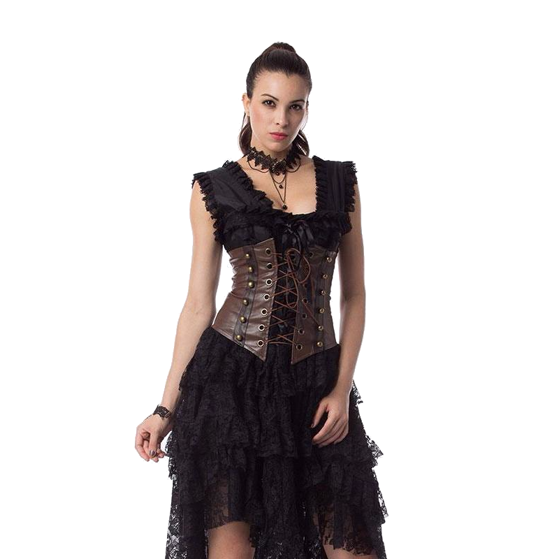 Brown And We Love It - Corset - BLACK RABBIT STORE