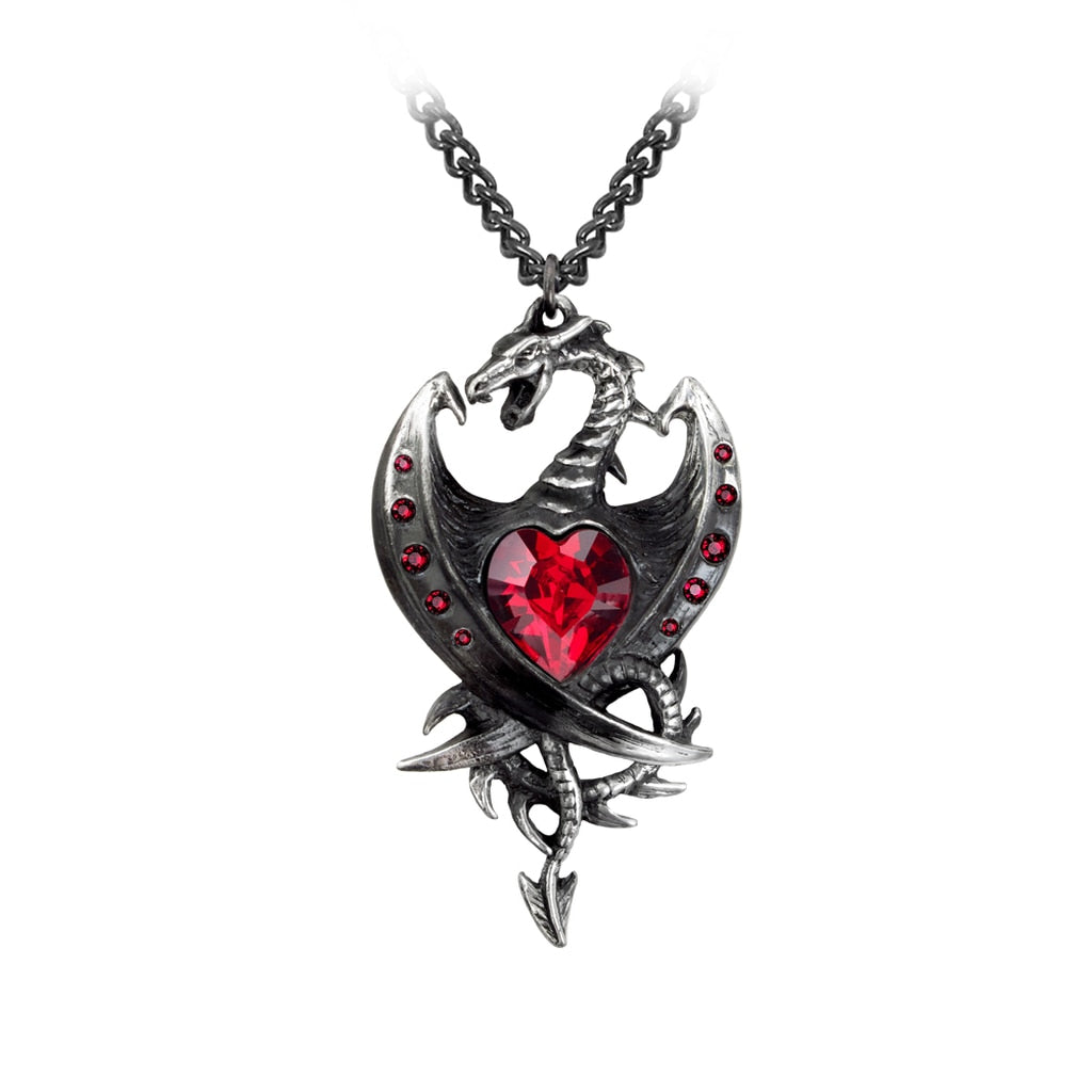 Alchemy Gothic Diamond Heart Pendant - BLACK RABBIT STORE