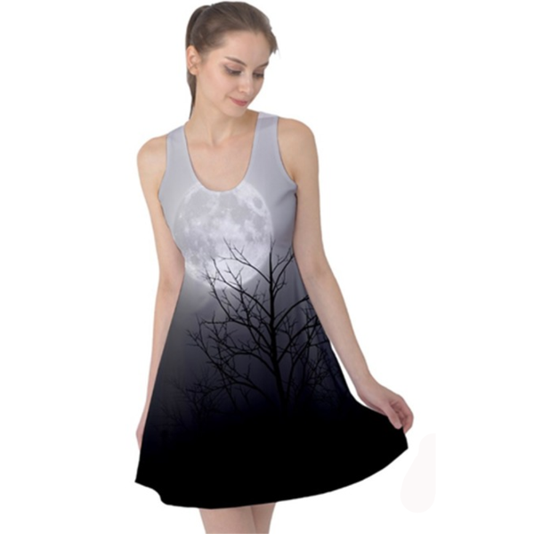 Moon Lit Dress - BLACK RABBIT GOTHIC FASHION