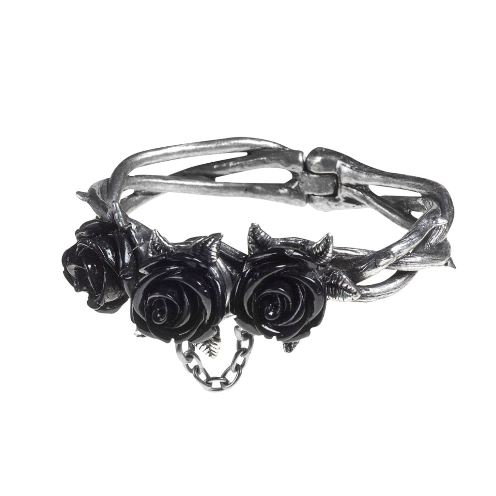Wild Black Rose Bracelet - BLACK RABBIT STORE