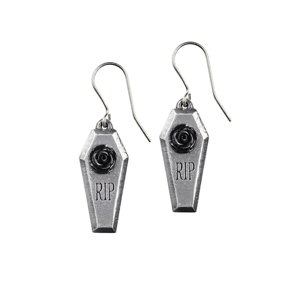 Alchemy Gothic RIP Rose Earrings