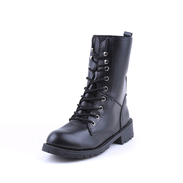 Pure Punk Combat Boots - BLACK RABBIT STORE