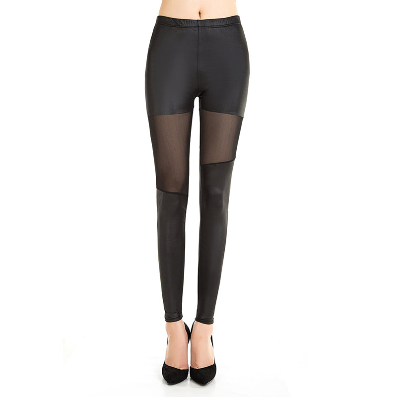 Black Space Mesh Leggings - BLACK RABBIT STORE