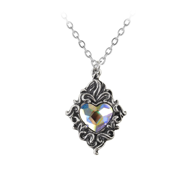 Alchemy Gothic Crystal Heart Pendant - BLACK RABBIT STORE