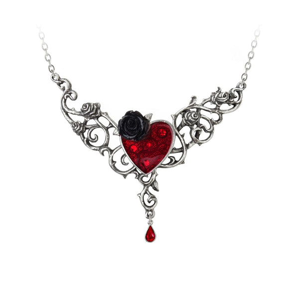 Alchemy Gothic The Blood Rose Heart Pendant - BLACK RABBIT STORE