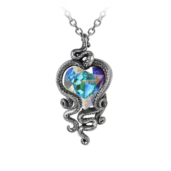 Alchemy Gothic Heart of Cthulhu Pendant - BLACK RABBIT STORE