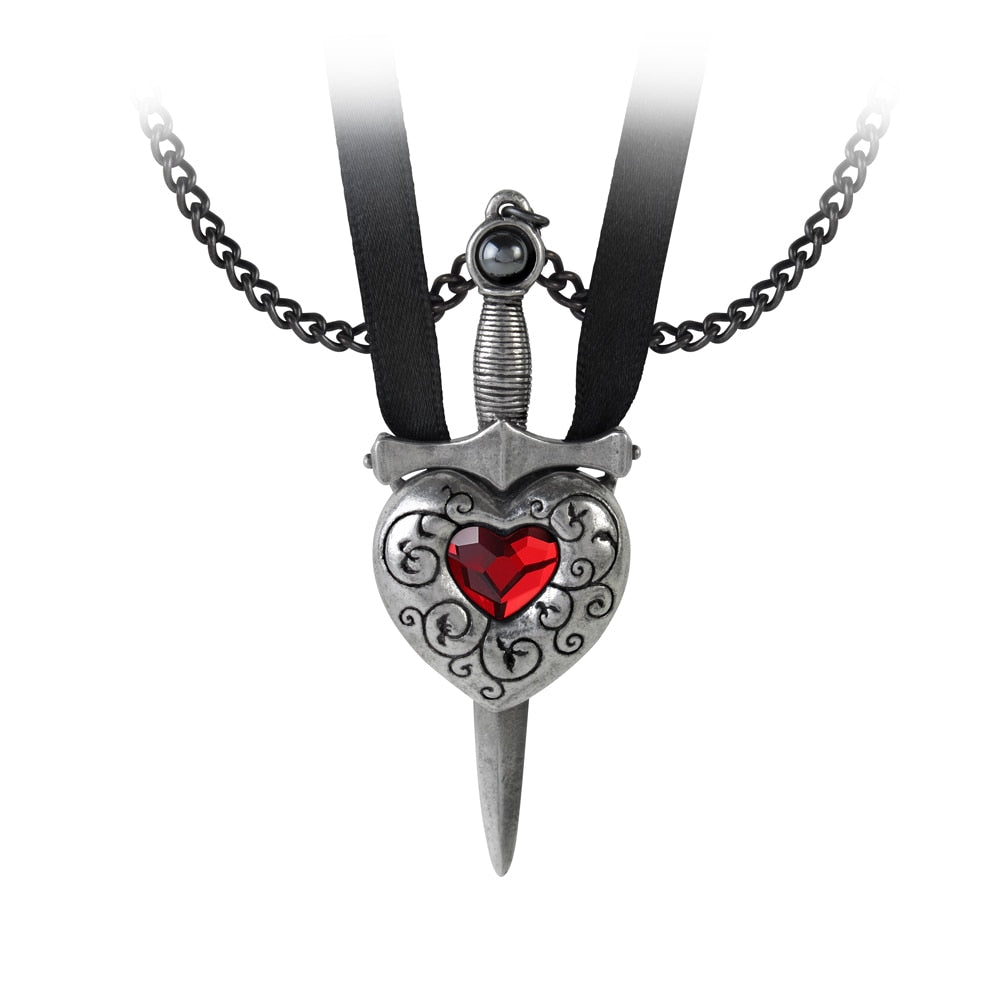 Alchemy Gothic Love is King Necklace - BLACK RABBIT STORE