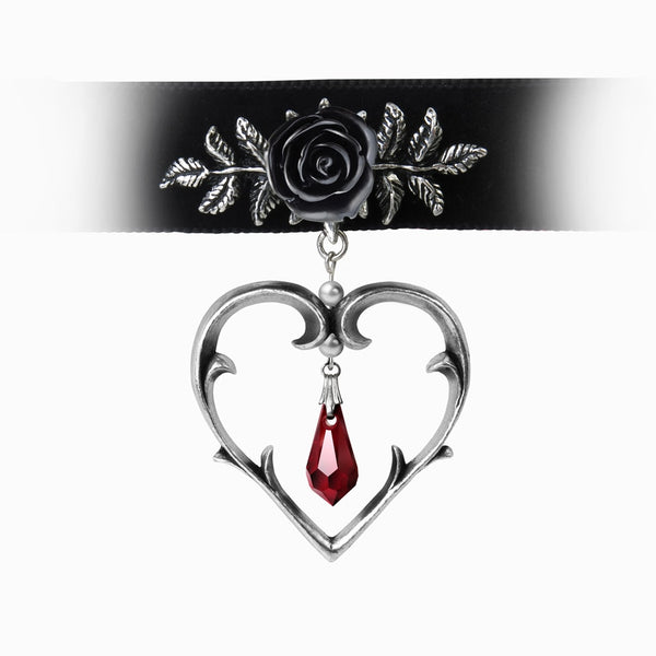 Alchemy Gothic Wounded Love Choker - BLACK RABBIT STORE