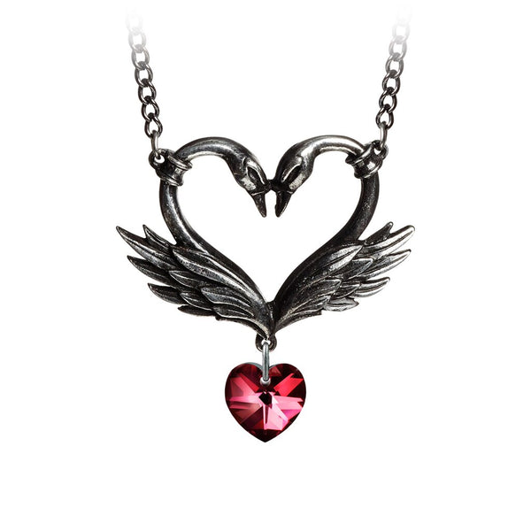 Alchemy Gothic The Black Swan Romance Necklace - BLACK RABBIT STORE