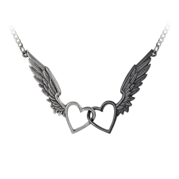 Alchemy Gothic Passio: Wings Of Love Necklace - BLACK RABBIT STORE