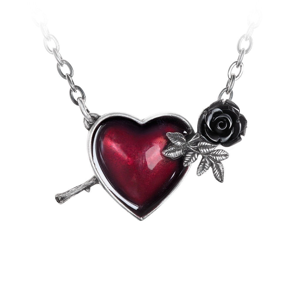 Alchemy Gothic Wounded By Love Necklace