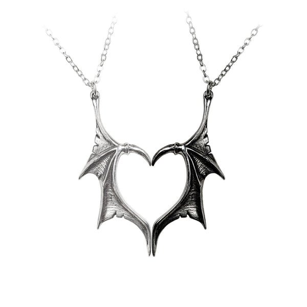 Alchemy Gothic Darkling Heart Necklace