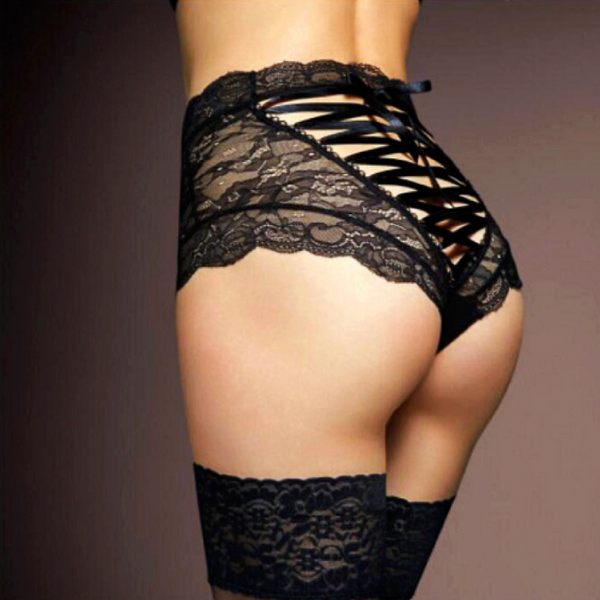 Lace String Thong Underpants - BLACK RABBIT STORE