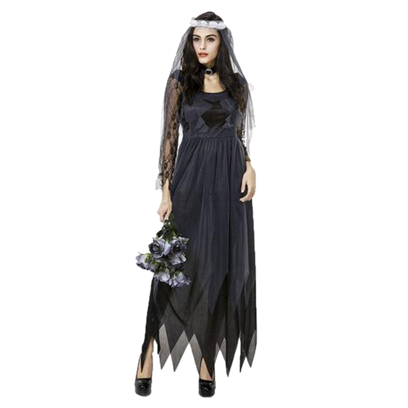 Gothic  Ghost Bride Costume - BLACK RABBIT STORE