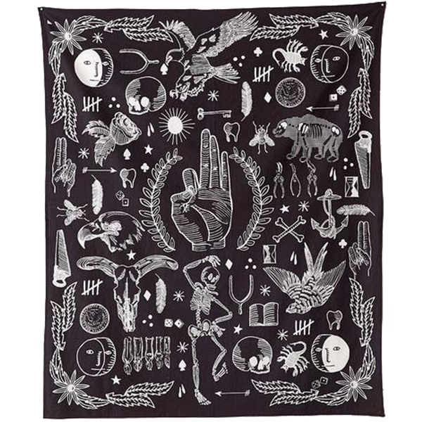 Gothic Faith Hanging Tapestry - BLACK RABBIT STORE