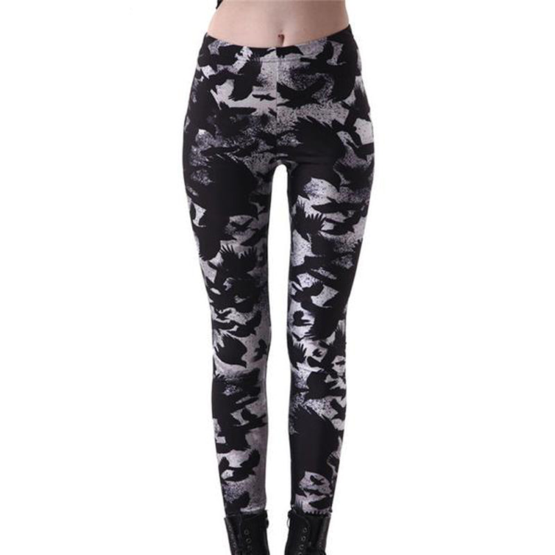 Gothic Raven Women's Workout Leggings - BLACK RABBIT STORE