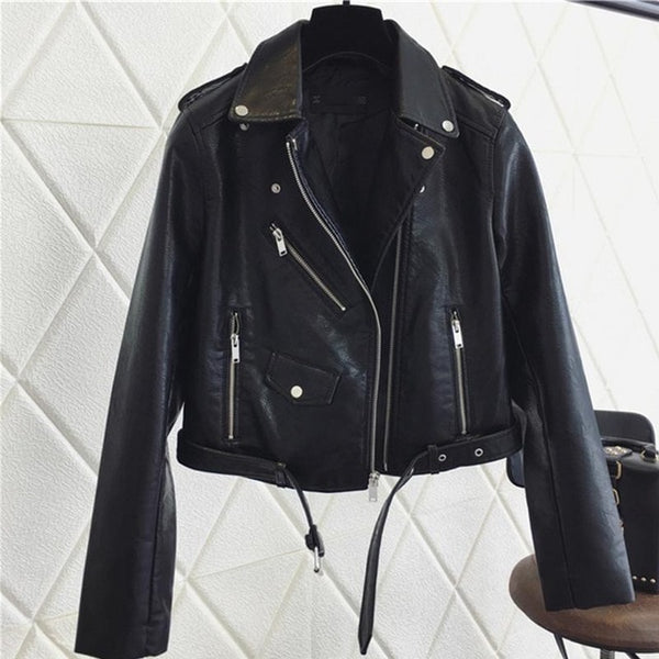 Amelia Vegan Leather Black Women Biker Jacket