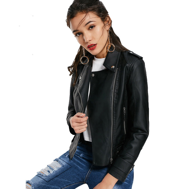 Punk Street-Style Vegan Leather Jacket