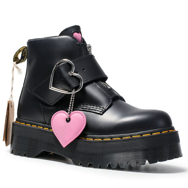 Love Hurts Kick Ass Platform Boots - BLACK RABBIT STORE