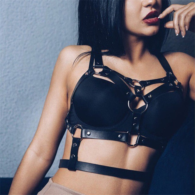 Salacia Bondage Goals Leather Harness