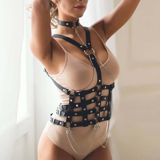 Ceres Bondage Goals Leather Harness